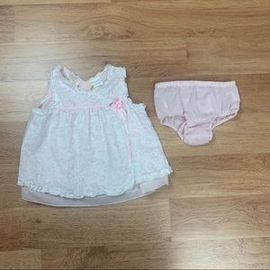 Little Bitty Baby Girl Vintage Eyelet Lace Dress